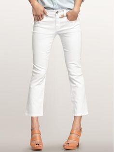 I wonder how thick the fabric is...I really want some white crops for summer! $59.95