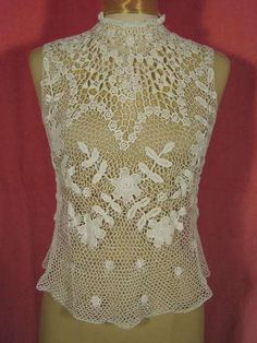 Edwardian Irish Crochet Blouse Bodice at Robin Clayton Vintage