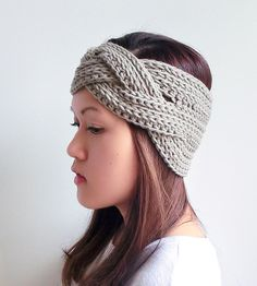 Braided Crochet Headband | Fend off the fiercest of winter gales with this crochet headba... | Hats