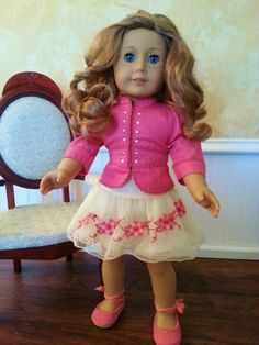 American Girl Doll Nicki in Beautiful Gala Outfit & Shoes GOTY