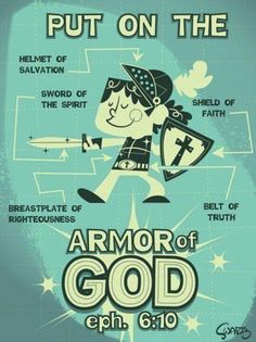 Perfect graphic for teaching children about the Armor of God.