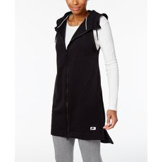 Nike Sportswear Modern Hooded Vest ($56) ❤ liked on Polyvore featuring outerwear, vests, black, vest waistcoat, nike vest, nike and hooded vests