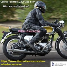 bike insurance additionally causes you spare a great deal of cash if any unplanned misfortune or harm is done to the vehicle. 2-wheeler insurance is a fundamental cover for your bike. For more detail Call us Toll free: 1800-266-5844