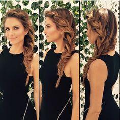 Maria Menounos Wears a Stunning Braid