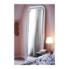 SONGE Mirror IKEA Full-length mirror. Mounting fixtures are included to prevent the mirror from sliding on the floor when leaning against a wall.