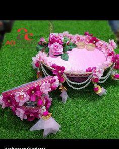 Desi Wedding Decor, Indian Wedding Decorations, Diy Wedding, Wedding Gifts, Thali Decoration Ideas, Diy Diwali Decorations, Flower Decorations, Gift For Raksha Bandhan, Karwa Chauth Gift