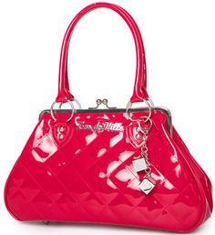 Lux de Ville Red Sin City Vintage Rockabilly Handbag