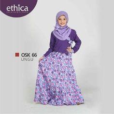 Baju Gamis Anak Ethica OSK 66 Ungu