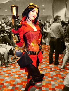 Love the red steampunk look.