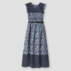 Art Class Girls' Smocked Maxi Dress Art Class - Navy Girls Smocked Dresses, Little Fashion, Smocking, Fashion Dresses, Bohemian, Rompers, Summer Dresses, Target, Inspiration