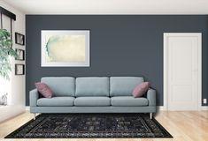 Onko rauhoittavan sinisävyinen sisustus sinun mieleesi?  Malli: Capri Verhoilu: Kangas, Shetland 600 Vaihtoehdot: 2-istuttava ja 3-istuttava sohva, modulisohva, rahi Jälleenmyyjä: Masku-myymälät  #pohjanmaan #pohjanmaankaluste #käsintehty #koti #sohva #olohuone #livingroominspo #livingroomdecor