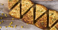 Cornbread with feta cheese by Greek chef Akis Petretzikis. A quick and easy recipe to make homemade corn bread with the added flavors of thyme and feta cheese!