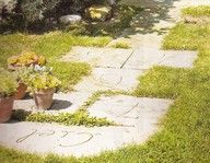 Hopscotch out of simple pavers