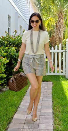 A Key to the Armoire Mom Outfits, Short Outfits, Spring Outfits, Casual Outfits, Womens Fashion For Work, Look Fashion, Fashion Outfits, Fashion Trends, Casual Wear