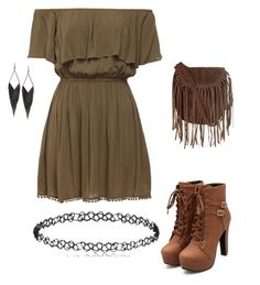 """""""Untitled #4"""" by rokay108 on Polyvore featuring Glamorous and GUESS"""