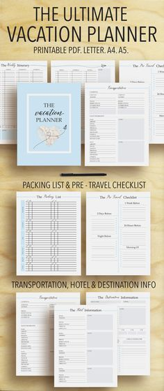 Vacation Planner Travel Planner Trip Planner by plannersbyB