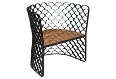 """Koi Chair, Teakwood by Phillips Collection 23""""w x 30""""d x 31""""h - seat 16.5""""h $2487 retail - $1399sale"""