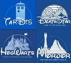 Disney Dr Who Star Wars Harry Potter LOTR mash up
