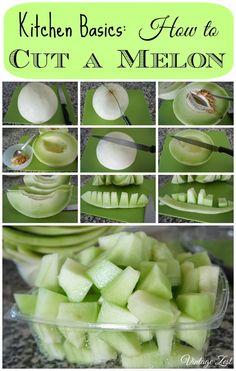 Diane's Vintage Zest!: Kitchen Basics: How to Cut a Melon!