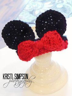 FREE Pattern by RAKJpatterns: Mouse Ears Headband Crochet Pattern