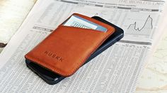CARD SLEEVE CASE / TAN | HUSKK - Slim Down Your Pocket with Unique iPhone Wallet Case