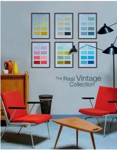 vintage colors - collection de peinture années 50 chez Ressource