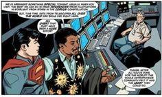 Neil deGrasse Tyson en el comic de Superman.