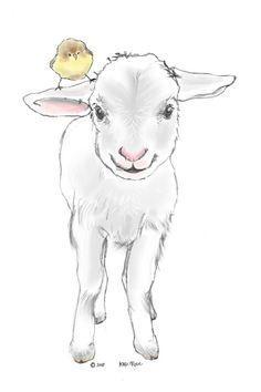 Risultati immagini per lamb drawing Lamb Drawing, Sheep Drawing, Painting & Drawing, Drawing Step, Cow Drawing Easy, Drawing Ideas, Realistic Drawings, Cute Drawings, Drawing Faces