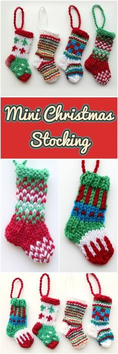 3e7086af548fa How To Knit Mini Christmas Stocking
