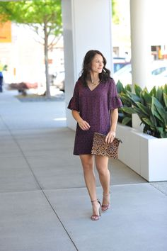 The perfect reason to buy more dresses this summer, this Madewell Flutter Sleeve Dress is great to dress up or down.