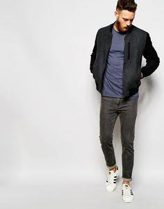 Edwin Bomber Jacket Baller Wool Flannel Contrast