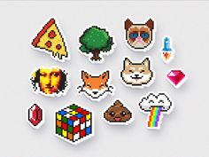 Pixel sticker pack