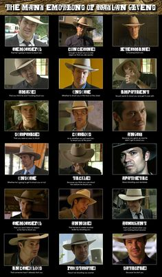 Justified - the many faces of U.S. Marshal Raylan Givens (Timothy Olyphant)