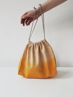 ae1272696540 Naturally dyed knitting bag Large knitting project bag Wabi