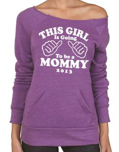 New Mom This Girl is going to be a Mommy Eco Fleece by ebollo, $24.95