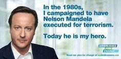 David Cameron, about Nelson Mandela