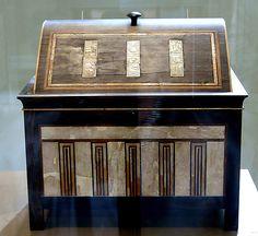 Inlaid box for cosmetic vessels of Sithathoryunet.Middle Kingdom.Dynasty 12,region of Senwosret II-Amenemhat III. ca 1887-1813 BC Egypt