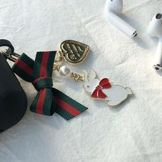 d3ab9e42a4d8 Donna McHaneyUnisex Accessories · Ribbon Rabbit Cute Key Rings Key Chain  For AirPods Car Phone Bag Charm  fashion