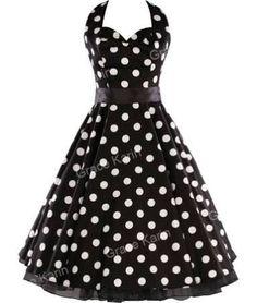 d5f6501d42b Summer Women Dress Vestidos Retro Vintage Dress Polka Dots Pinup Rockabilly  Plus Size Sexy Halter Short Party Dresses
