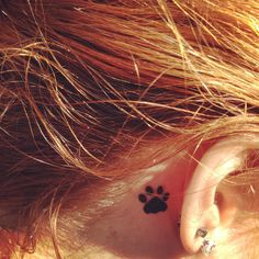 Your Tattoos » Paws Tattoo Behind Ear