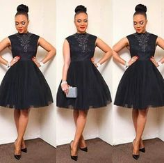 Black High Neck Elegant Cheap Short Cocktail Party Graduation Homecoming Dress, The short sleeve sparkly cocktail homecoming dresses are fully lined, 8 bones in the bodice, chest pad in the bust African Attire, African Wear, African Dress, African Fashion, African Style, Nigerian Fashion, Ghanaian Fashion, African Women, Ankara Dress