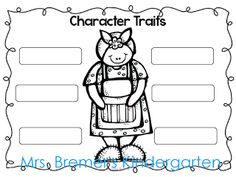 Mrs. Wishy-Washy book study: character traits