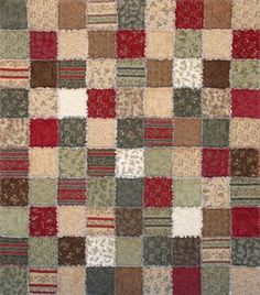 Sorry - Sold Out 2008..... Birchwood Snuggler - Another Exclusive Snuggler quilt by Homespun Hearth.  With warm and inviting colors, this quilt is perfect to wrap yourself in