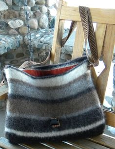 knitted messenger bag felted - Google Search