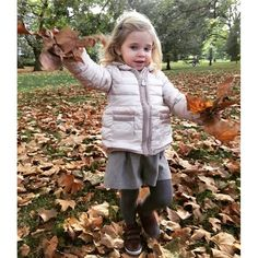 """The adorable Princess is ready to fall into fall! The royal tot's mom posted a photo her little girl dressed in her autumn best playing in a pile of leaves. Attached to the photo, Princess Madeleine wrote, """"The fall is here! Crown Princess Victoria, Royal Princess, Prince And Princess, Pictures Of Princesses, Swedish Royalty, Welcome Fall, Royal Babies, Fall Is Here, Royals"""