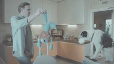 """Harvey and Rabbit TV ad by Thinkbox. I was a big fan of the original """"Every home needs a Harvey"""", but this one is even better. Best Adverts, Tv Adverts, Tv Ads, Harvey Rabbit, Tv Watch, Great Ads, Tv Commercials, Cute Gif, Short Film"""