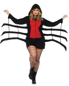 Women's Cozy Black Widow Costume - Candy Apple Costumes