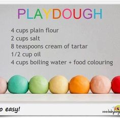 Play dough is great for bored kids.. :)