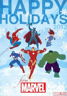 2012 Official Marvel holiday card    http://fans.marvel.com/agent_m/blog/2012/12/14/happy_holidays_2012