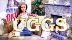DIY - How to Make: Doll UGGS Boots - Winter - Holiday - Craft - 4K